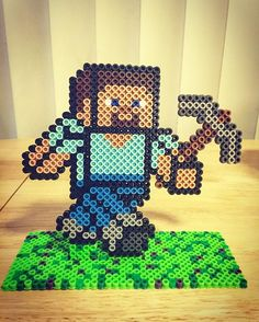 Standing Steve - Minecraft perler beads by sayjess_821