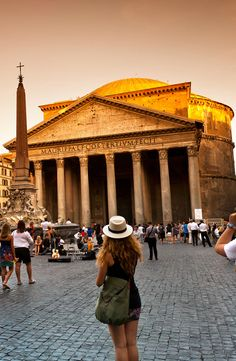 A walk through Ancient Rome on Day 13 of the Rick Steves Best of Europe in 21 Days Tour.