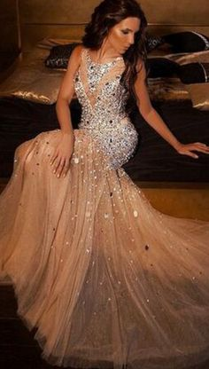 #champagne #tulle #prom #party #evening #dress #dresses #gowns #cocktaildress #EveningDresses #promdresses #sweetheartdress #partydresses #QuinceaneraDresses #celebritydresses #2016PartyDresses #2016WeddingGowns #2017HomecomingDresses #LongPromGowns #blackPromDress #AppliquesPromDresses #CustomPromDresses #backless #sexy #mermaid #LongDresses #Fashion #Elegant #Luxury #Homecoming #CapSleeve #Handmade #beading