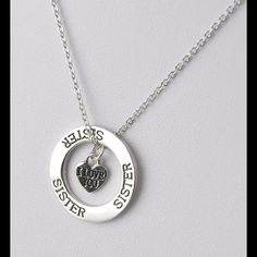 Silver Sister necklace. NWT 3 available Jewelry Necklaces