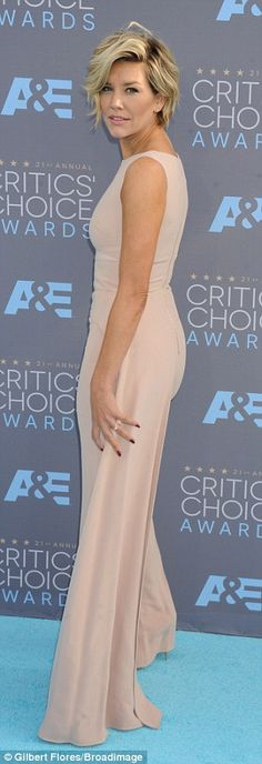 A lot on: Fox Sports 1 sportscaster Charissa Thompson, 33, went for the all-nude pantsuit option on the blue carpet