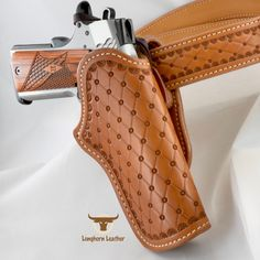 Longhorn Leather AZ-Gallery - Longhorn Leather AZ 1911 Leather Holster, 1911 Holster, Custom Leather Holsters, Leather Tool Belt, Leather Tooling, Gun Holster, 1911 Pistol, Tooled Leather, Leather Bags