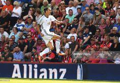 Zlatan Ibrahimovic of Manchester United celebrates scoring his team's third goal…