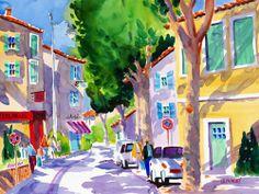 St. Remy, France ~ Ellen Negley, watercolor