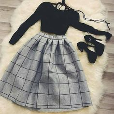 Which outfit 1 – Via . Teen Fashion Outfits, Mode Outfits, Skirt Outfits, Fashion Dresses, Cute Casual Outfits, Pretty Outfits, Stylish Outfits, Stylish Dresses, Cute Dresses