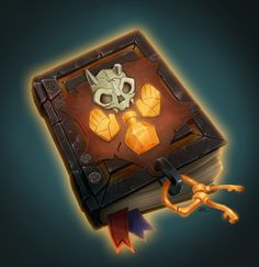 "Lorelai's Spellbook: ""Incantations, Elixirs, and Malevolent Magicka of the Misguided"", Becca Hallstedt on ArtStation at https://www.artstation.com/artwork/Xdozn"
