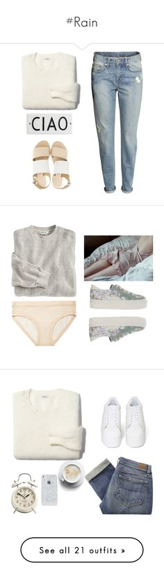 """""""#Rain"""" by lolgenie ❤ liked on Polyvore featuring Madewell, H&M, Rosanna, Sol Sana, Acne Studios, ASOS, Paige Denim, Jeffrey Campbell, T By Alexander Wang and J.Crew"""