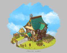 Cottage, Dune Lee on ArtStation at https://www.artstation.com/artwork/cottage-4e34d63f-321c-4a1e-a5e6-0f3d38d345ac