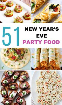 New Years's eve party appetizers are a crowds favorite! These party finger foods are a great to ring in the New Yesr to help you celebrate with friends! New Year's Eve Appetizers, Appetizers For A Crowd, Food For A Crowd, Appetizers For Party, Appetizer Recipes, Dinner Recipes, New Years Eve Party Ideas Food, New Years Eve Food, New Year's Eve Dinner Menu
