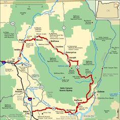 Rv Camping In Colorado Oregon Map, Oregon Travel, Oregon Coast, Travel Usa, Bus Travel, Road Trip Map, Oregon Road Trip, Road Trips, Joseph Oregon