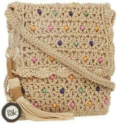 """New Cheap Bags. The location where building and construction meets style, beaded crochet is the act of using beads to decorate crocheted products. """"Crochet"""" is derived fro Crochet Shell Stitch, Bead Crochet, Diy Crochet, Crochet Handbags, Crochet Purses, Crochet Purse Patterns, Knitted Bags, Crochet Accessories, Crochet Designs"""