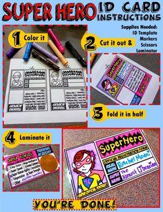 Superhero ID Card instructions