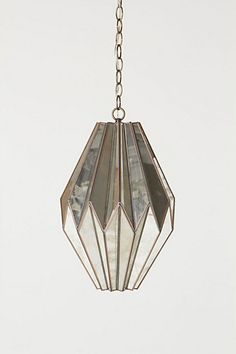 mirrored pendant lamp from anthropologie