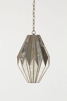 metal & mirror pendant lamp