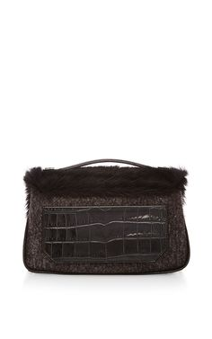 Pony Hair And Felt Kent Shoulder Bag by Proenza Schouler for Preorder on Moda Operandi