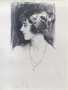Lady Elixabeth Bowes-Lyon, John Singer Sargent  1923
