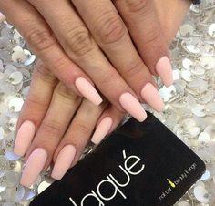 Light pink matte gel nails