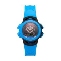 Super Mario Kids' Digital Watch, Boy's, Size: Medium, Blue