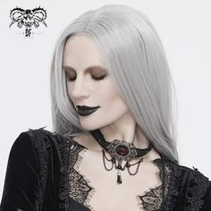 """Brand:EVA LADY Material:POLYAMIDE Weight:0.03KG Size:One Size(Neck Circumference:32CM/12.6""""-44CM/17.3"""") Sku:EAS007 Black Lace Choker, Punk Rave, Victorian Gothic, Women's Accessories, Chokers, Vintage Fashion, Stone, Pendant, Lady"""