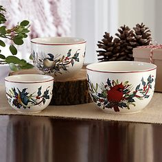Winter Greetings Nesting Bowls, Set of 3  Save $40 dollars! Perfect for holiday entertaining! Fill with spiced nuts or your favorite dip!