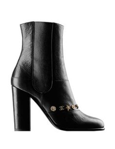 CHANEL Tumbled Calfskin Mid-Calf Boots With 105mm Heel