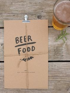 This would be perfect for Alyssa --BEER/FOOD 2013 calendar. $24.00, via Etsy.