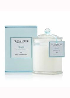 purchased - Glasshouse Miami Pomelo and Grapefruit Candle