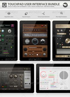 Touchpad User Interface Bundle, you can buy this GUI PSD on GraphicRiver for just $18