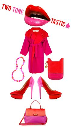 I am so into pink and red right now! <3