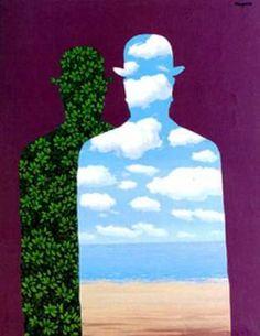Rene Magritte - High Society (1966)  @ Museo Picassa Malaga, 'The Grotesque Factor', 1/11/12    Ik heb een boekje met fragmenten   Ooit word ik een zomergast  Ondertussen schrijf ik  Voor de krant, Vice of voor de lol  Groot zal ik leven  In schreeuwende romantiek  Een huls met bolhoed  En zo vlucht ik voor de leegte