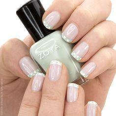 Colors used: Zoya #nailpolish in Laurie (base), #zoya Neely (mint green) & Snow White (white) #nailart #polkadot #manicure #nails