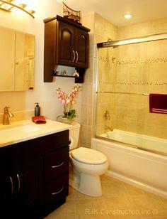 Bertch Bath cabinetry. | ReBath Mid-Florida | 445 West State Road 436 | Altamonte Springs, FL 32714 | (407) 926-1811 | facebook.com/rebathfl Bertch Cabinets, Traditional Bathroom, Corner Bathtub, Mosaic Tiles, Altamonte Springs, Florida, Design Bathroom, Facebook, Bathrooms