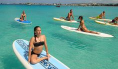 Put this on your holiday bucket list: SUP Yoga with What' SUP Barbados. #BlueSkyLuxury #Barbados #SUPYoga