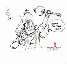 Sunday, December 27, 2015  Daily drawings of Hanuman / Hanuman TODAY / Connecting with Hanuman through art / Artwork by Petr Budil [Pritam] www.hanuman.today