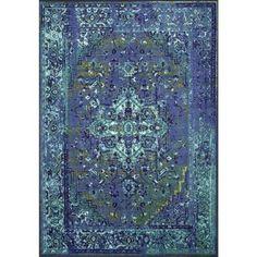 nuLOOM Vintage Reiko Blue 9 ft. x 12 ft. Area Rug-MCGZ01C-9012 - The Home Depot