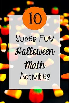 Here are ten awesome math activities for Halloween. There are ideas for place value spiders, addition games, problem solving and more with a fun fall theme! Geometry Activities, Math Activities, Math Resources, Educational Activities, Halloween Math, Halloween Activities, Holiday Activities, Halloween Ideas, Fun Math Games