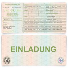 Einladungskarten - Einladungskarten Einladung Fahrzeugschein Auto - ein Designerstück von Kartenmachen-de bei DaWanda