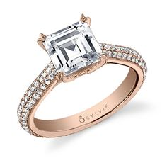Sylvie Collections SY616   Warm and feminine in 14k Rose Gold