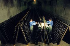 Remuage / Riddling (670×441) Wine Parties, In Vino Veritas, Vignettes, France, Concert, Recherche Google, Tour, Images, Party