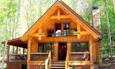 A weekend cabin.  Whittier Profile- Landmark Log Homes