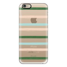 Preppy Stripes - iPhone 6s Case,iPhone 6 Case,iPhone 6s Plus... ($40) ❤ liked on Polyvore featuring accessories, tech accessories, iphone case, slim iphone case, iphone cases, apple iphone cases, iphone cover case and clear iphone cases