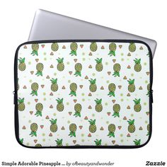 Simple Adorable Pineapple Pattern | Laptop Sleeve Custom Laptop, Pineapple Pattern, Best Laptops, Personalized Products, Laptop Sleeves, Simple, Gifts, Collection, Design