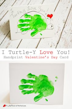 Make this adorable handprint acorn valentines day craft that says