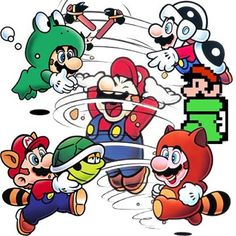 All of the powerups used by in 3 including the Tanooki Suit, Frog Suit, Racoon Suit, Hammer Suit Check out our full guide to Super Mario Bros 3 Super Mario Bros, Super Mario World, Super Mario Brothers, Super Smash Bros, Video Game Art, Video Games, Gi Joe, Jhon Green, Mario Tattoo