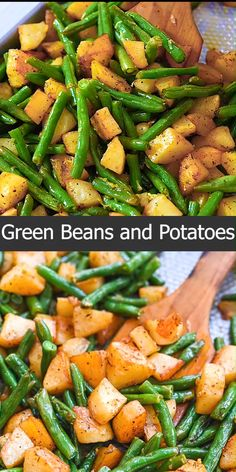 Fresh green beans, roasted potatoes, garlic, and flavorful seasonings make this Roasted Green Beans and Potatoes dish absolutely delicious. Whether you're cooking a simple weeknight dinner or something more elaborate, this side will be a snap to ma Healthy Meal Prep, Healthy Snacks, Healthy Eating, Healthy Recipes, Delicious Recipes, Keto Recipes, Clean Eating, Dinner Healthy, Healthy Stir Fry