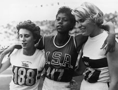 African-American Firsts Athletes: 1960: Wilma Rudolph becomes the first woman in Olympics history to win three gold medals in a single Olympics.
