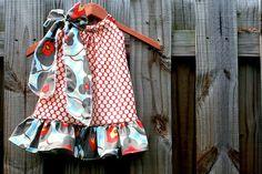 Amy Butler Cherry Dot Ruffle Pillowcase Dress by thetrendybaby, $27.00