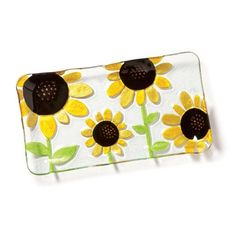 Sunflowers cheer me up every time I look at them Slumped Glass, Cheer Me Up, Serving Utensils, Serveware, Cup And Saucer, Best Sellers, Sunglasses Case, Sunflowers, Kitchen