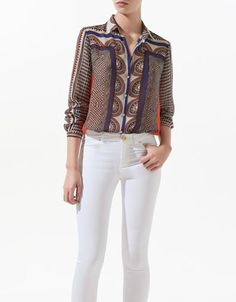 Zara White Studded Blouse 87
