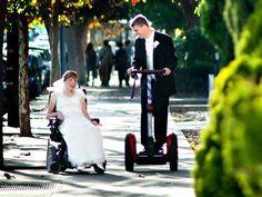 Wheeled wedding unites couple with cerebral palsy (Photo: Stout Photography)